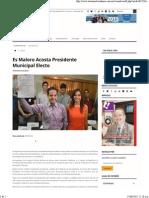 12-06-15 Es Maloro Acosta Presidente Municipal Electo