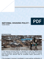 National Housing Policy in Kenya