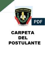 Carpeta de Postulante 2015-i