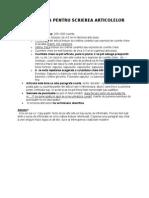 Procedura Pentru Scrierea Articolelor 2013