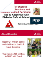 overview of diabetes for teachers