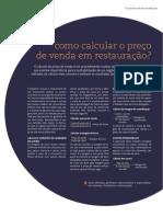 NR80 Como Calcular o Preco de Venda Na Restauracao