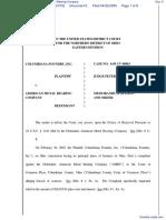 Columbiana Foundry, Inc. v. American Metal Bearing Company - Document No. 6