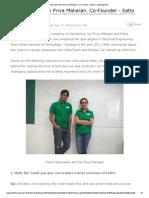 Interview With Sai Priya Mahajan, Co-Founder - Eatlo _ CrazyEngineers