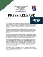 Press Release 6.15.15 Canto