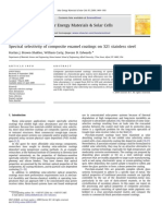 Spectral selectivity of composite enamel coatings on 321 stainless steel