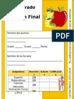 3er Grado - Examen Final (2014-2015)