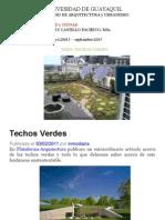 Ambiente y Ciudad Techos Verdes