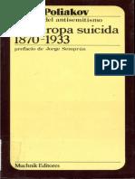 Poliakov Leon - La Europa Suicida 1870 - 1933