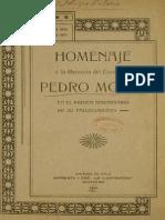 Homenaje a La Memoria Del Excmo. Sr. Pedro Montt en El Primer Aniversario de Su Fallecimiento. (1911)