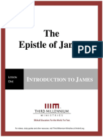 The Epistle of James - Lesson 1 - Transcript