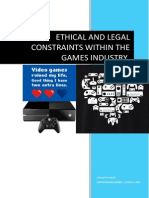 ethical and legal constraints within the games industry final