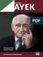 The Essential Hayek by Prof. Donald Boudreaux