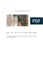 Ceramic Tiles - Terrazzo Tiles and Mosaics Method Statements