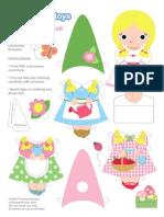 Gnomie Paper Doll