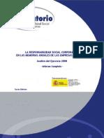 Observatorio RSC LA RESPONSABILIDAD SOCIAL CORPORATIVA EN LAS MEMORIAS ANUALES DE LAS EMPRESAS DEL IBEX 35 Informe Final 2008