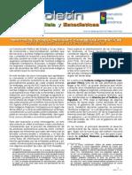 """Boletín Análisis y Estadísticas Nº 3 """"Territorios Indígena Originario Campesinas potenciales para el acceso a las AIOC en Tierras Altas"""""""