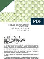 m2-1 Intervención Didáctica El Contexto de La Intervencion JUANA PALACIOS