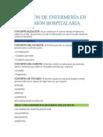 Atención de Enfermería en Admisión Hospitalaria