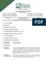 Peachtree Corners Council Agenda, July 16