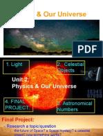 unit 2  physics   our universe