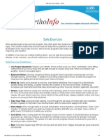 Safe Exercise-OrthoInfo - AAOS