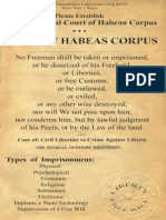 Writ of Habeas Corpus PDF