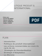 La Politique Produit à l'International