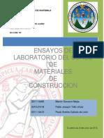 Ensayos de Laboratorio Materiales de Construcción