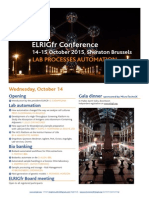ELRIGfr Conference Programme Preview - October 2015 - Sheraton Brussels