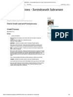 Oracle Credit Card and Pcard Process