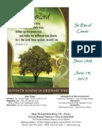 St. Rita Parish Bulletin 6/14/2015