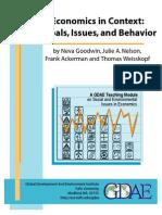 Economics in Context Goals, Issues and Behavior