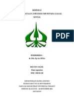 REFERAT Anestesi Umum Pada Gagal Ginjal