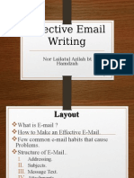 Effective Email Writing
