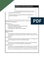 differentiation handout