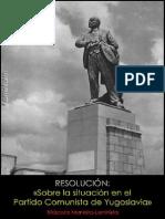 Kominform; Resolución; Sobre la situación en el Partido Comunista de Yugoslavia, 1948.pdf
