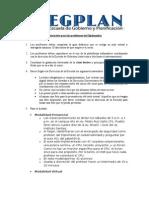 Instructivo Para Profesores - Diplomado en Gobernabilidad