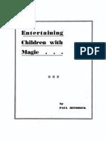 Entertaining Children With Magic
