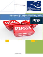 Corporate Policy and strategy