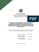 DESARROLLO DE UN SISTEMA PARA EL CONTROL Y GESTIÓN DE MATERIALES EN EL ALMACÉN DEL DEPARTAMENTO DE MANTENIMIENTO Y OPERACIÓN DE TELÉFONOS PÚBLICOS DE LA COMPAÑÍA ANÓNIMA NACIONAL TELÉFONOS DE VENEZUELA DEL ESTADO MONAGAS BASADO EN LA METODOLOGÍA ÁGIL EXTREME PROGRAMMING XP.
