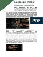5 Videojuegos de Miedo Que Han Marcado La Historia en La Sociedad