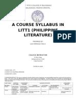 (Sample)Syllabus in Philippine Literature Revised OBE
