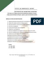 Diplomado Teórico-práctico Del Sistema Penal Acusatorio