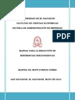 Manual Para La Redacción de Referencias Bibliográficas