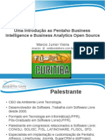 Uma Introducao Ao Pentaho Business Intelligence e Business Analytics Open Source