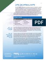 PEERx Toolkit FactSheets Stimulants