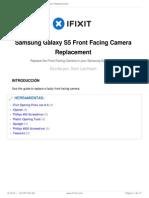 Guía para reparar la cámara frontal del Samsung S5