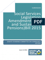 Industry Super Australia Submission Fair and Sustainable Pensions Bill