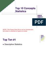 Top 10 Concepts Statistics